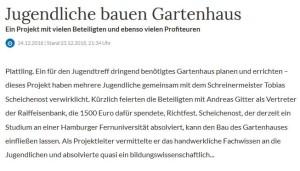 ZeitungsartikelGartenhaus